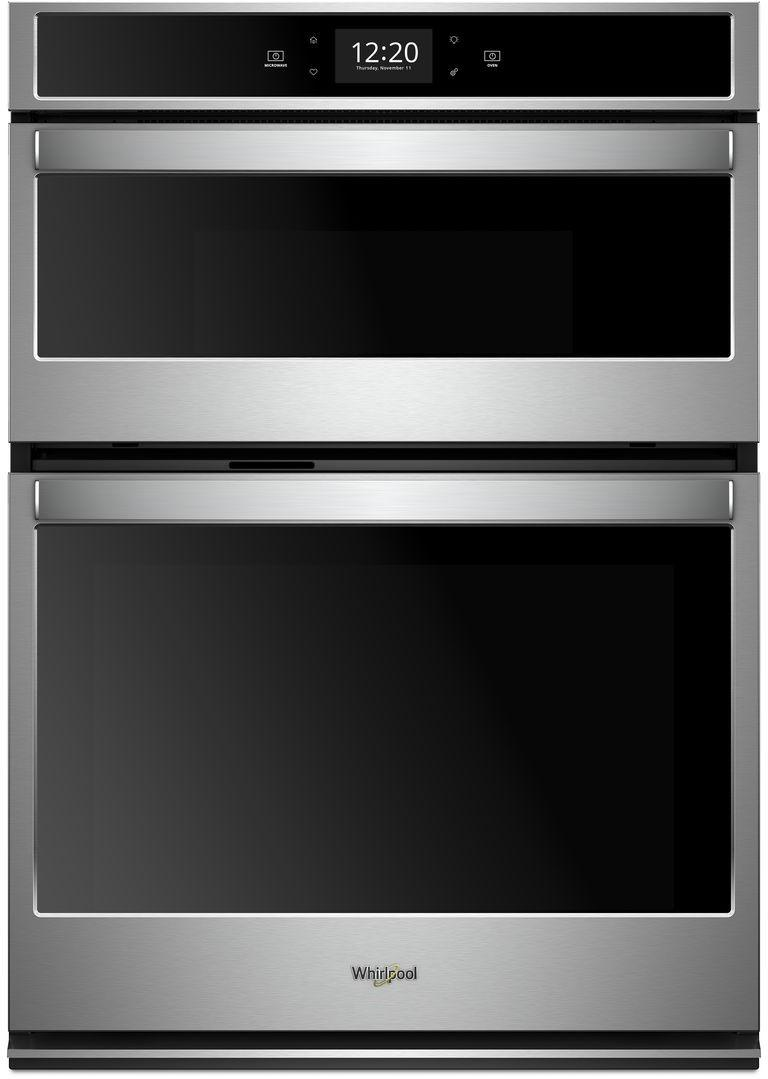 Whirlpool - 6.4 cu. ft Combination Wall Oven in Stainless Steel - WOC75EC0HS