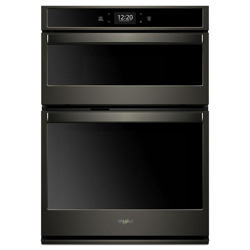 Whirlpool - 6.4 cu. ft Combination Wall Oven in Black Stainless - WOC75EC0HV