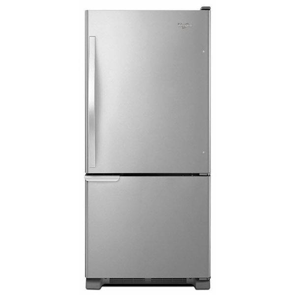 Whirlpool - 29.75 Inch 18.67 cu. ft Bottom Mount Refrigerator in Stainless - WRB119WFBM