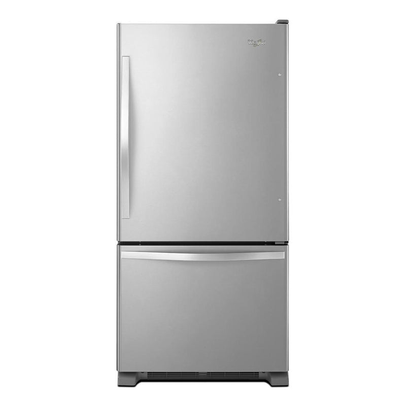 Whirlpool - 32.63 Inch 22.07 cu. ft Bottom Mount Refrigerator in Stainless - WRB322DMBM