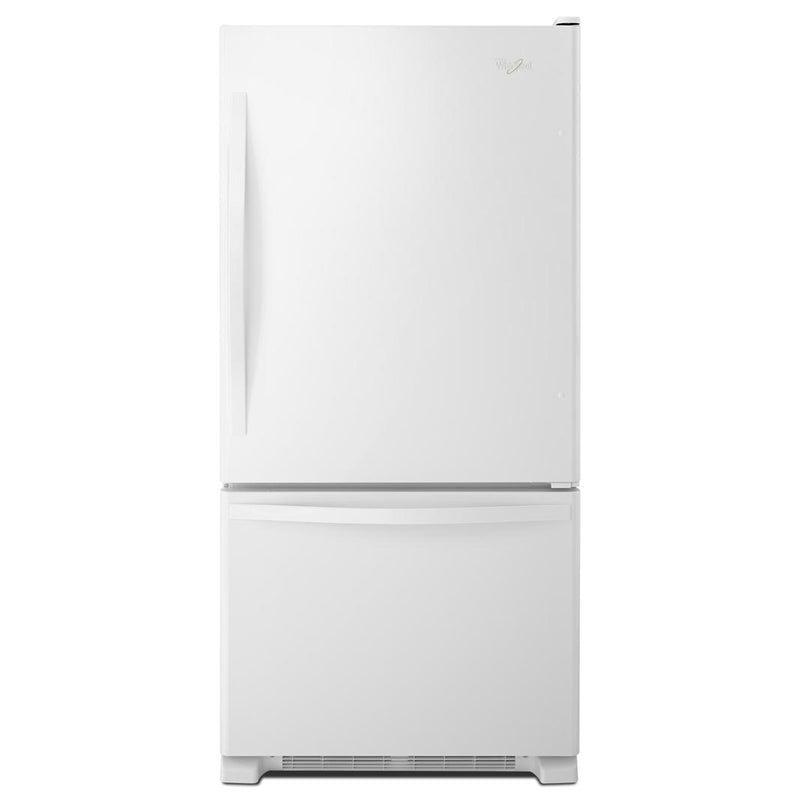 Whirlpool - 29.75 Inch 18.67 cu. ft Bottom Mount Refrigerator in White - WRB329DFBW