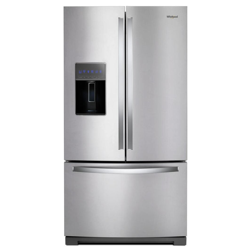 Whirlpool - 35.6875 Inch 27 cu. ft French Door Refrigerator in Stainless - WRF767SDHZ
