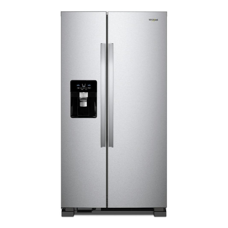 Whirlpool - 32.75 Inch 21.4 cu. ft Side by Side Refrigerator in  Stainless - WRS321SDHZ