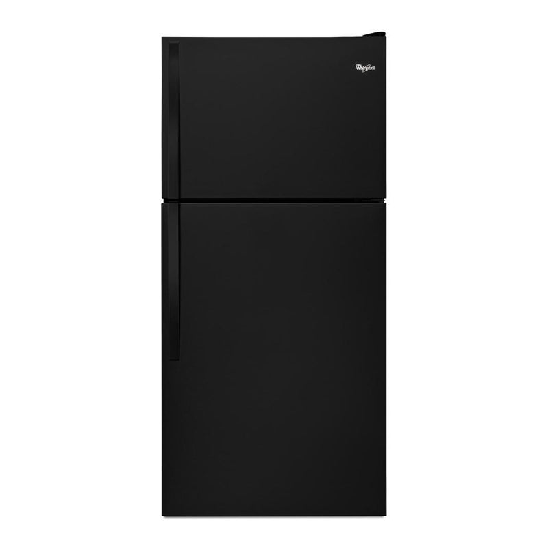 Whirlpool - 29.75 Inch 18.15 cu. ft Top Mount Refrigerator in Black - WRT318FZDB
