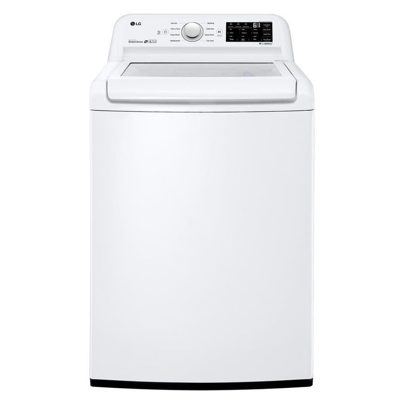 LG - 5.2 cu. Ft  Top Load Washer in White - WT7100CW