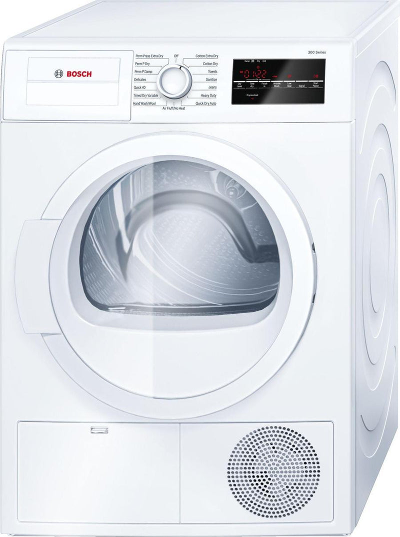 Bosch - 4 cu. Ft  Electric Dryer in White - WTG86400UC