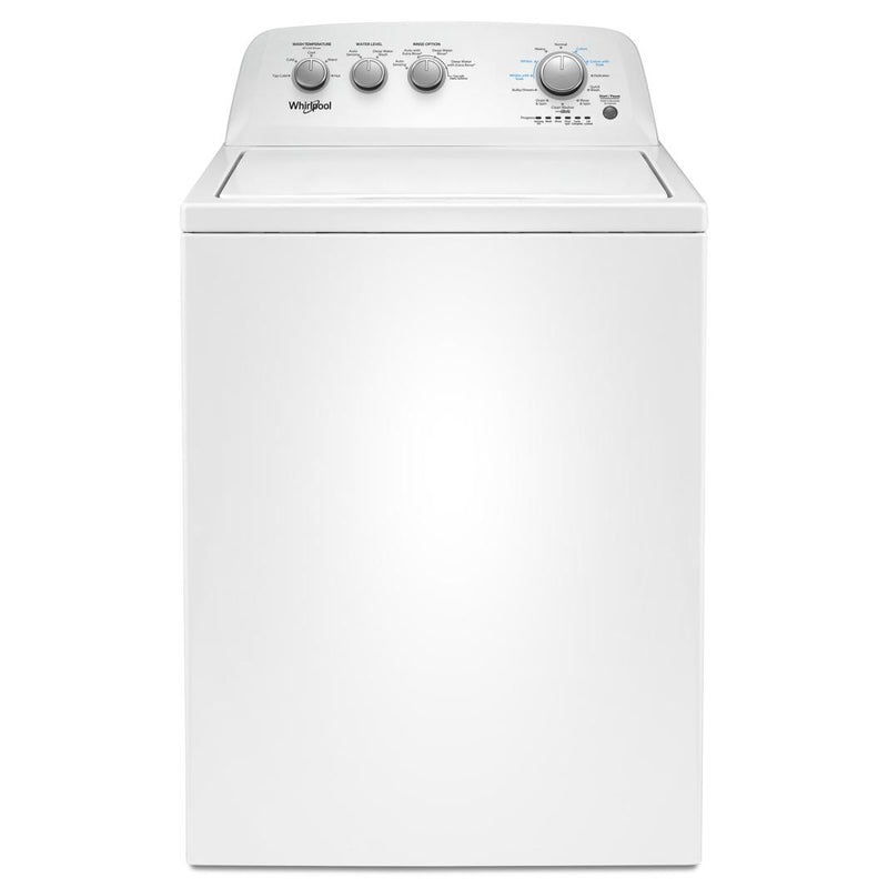 Whirlpool - 4.4 cu. Ft  Top Load Washer in White - WTW4855HW