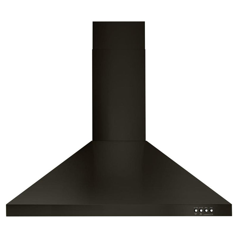 Whirlpool - 30 Inch 400 CFM Wall Mount and Chimney Range Vent in Black Stainless - WVW53UC0HV