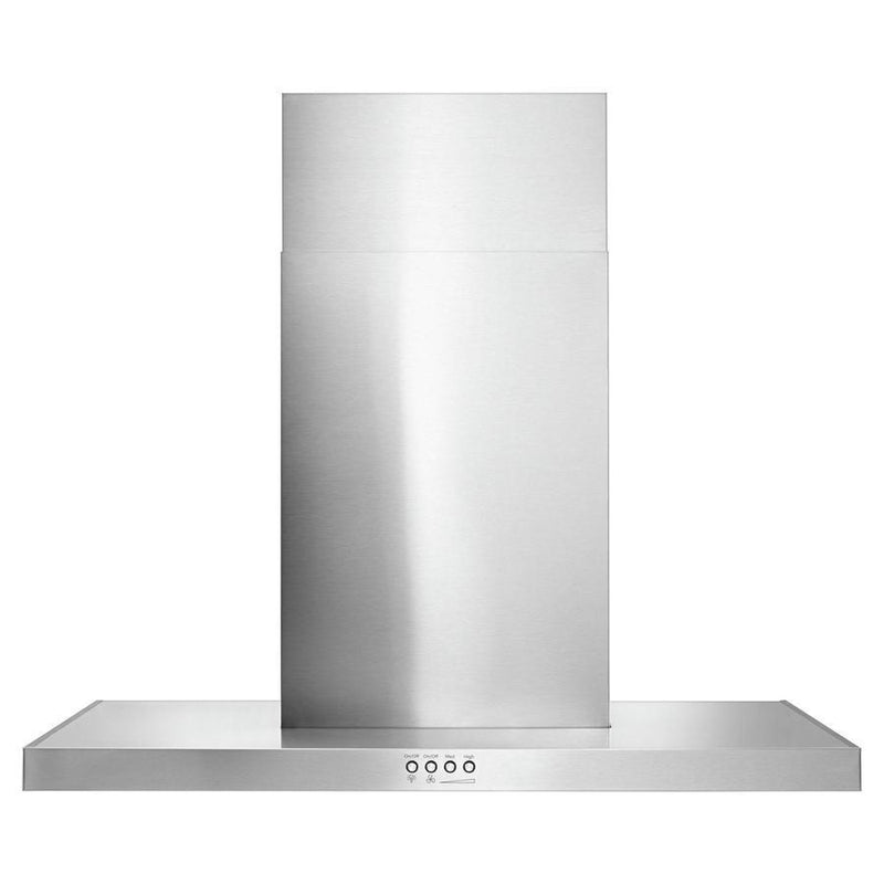 Whirlpool - 30 Inch 400 CFM Wall Mount and Chimney Range Vent in Stainless - WVW57UC0FS