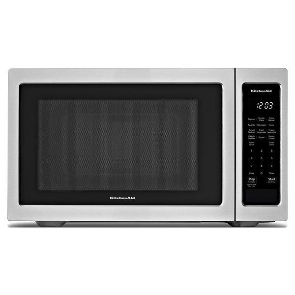 KitchenAid - 1.6 cu. Ft  Counter top Microwave in Stainless Steel - YKMCS1016GS
