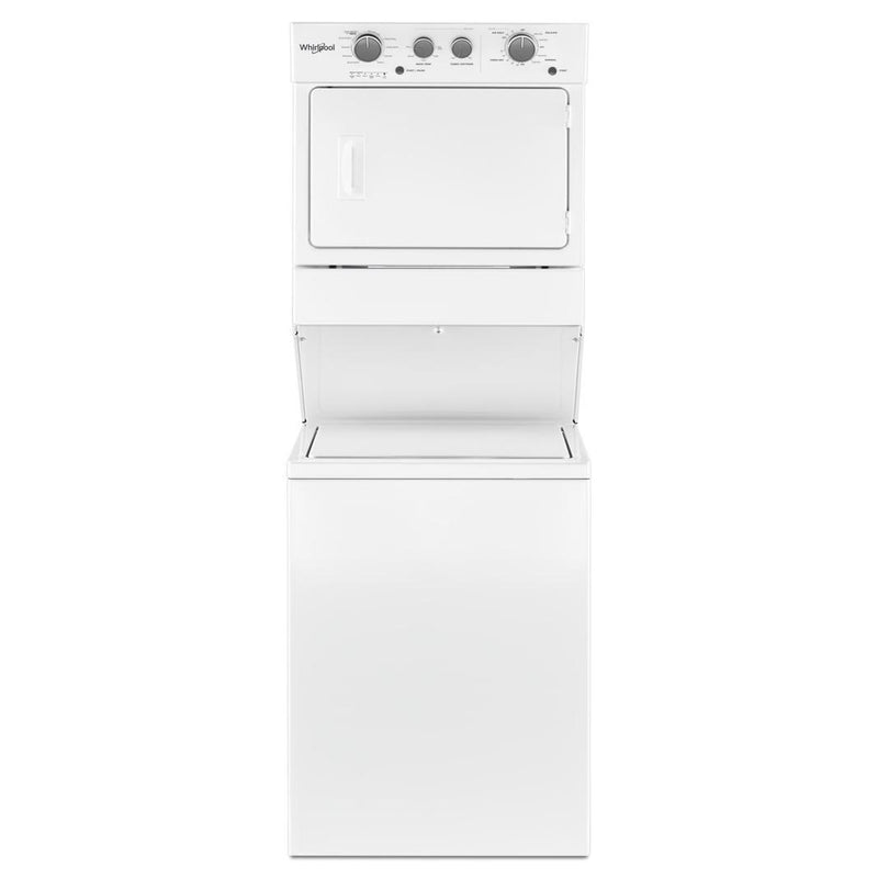 Whirlpool - 9.4 cu. Ft Electric Washer/Dryer Laundry Center in White - YWET4027HW