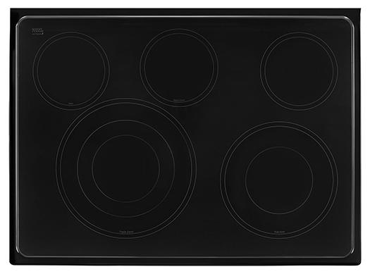 Whirlpool - 6.4 cu. ft Electric Range in Stainless - YWFE745H0FS