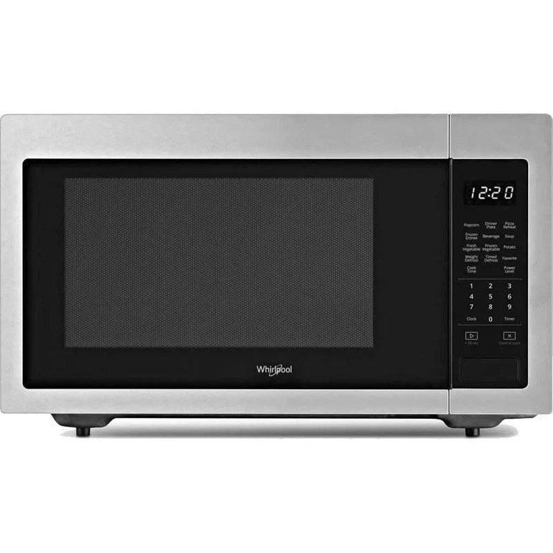 Whirlpool - 1.6 cu. Ft  Counter top Microwave in Fingerprint Resistant Stainless Steel Finish - YWMC30516HZ