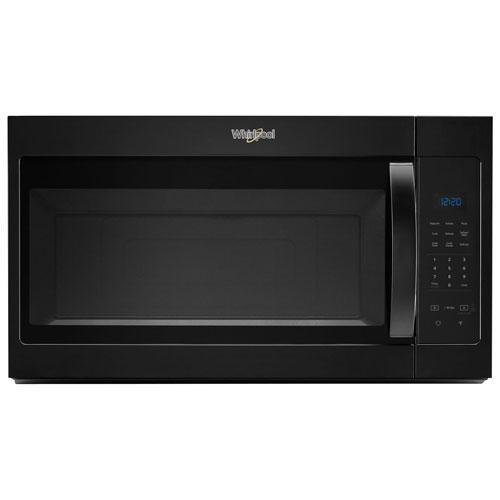 Whirlpool - 1.7 cu. Ft  Over the range Microwave in Black - YWMH31017HB