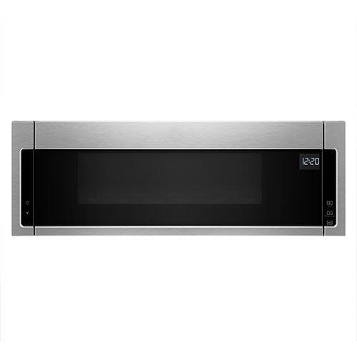 Whirlpool - 1.1 cu. Ft  Over the range Microwave in Black-on-Stainless - YWML55011HS