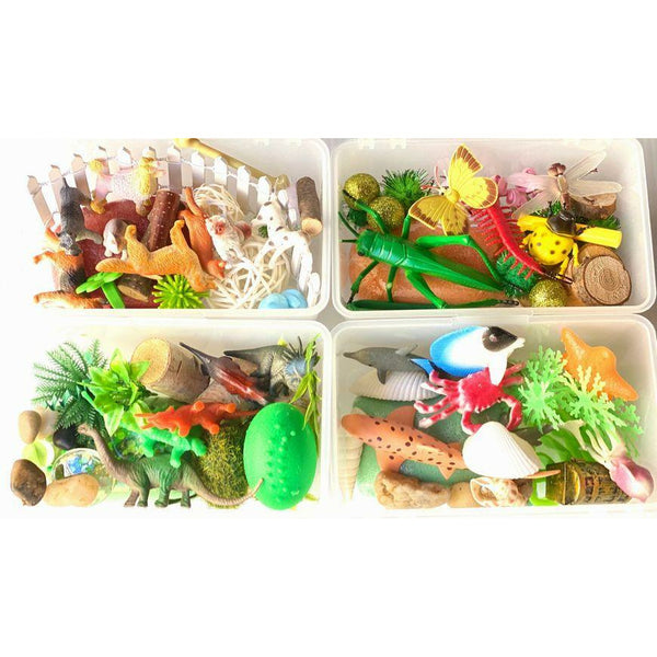 4 Pack Minis- Dinosaur, Under the Sea, Family Pet and Bug Life-Mini Kit,-Busy Box Child Store-Busy Box Child