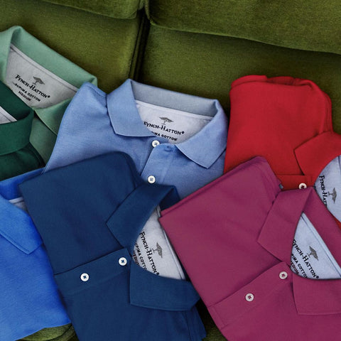 Fynch Hatton   Men's Clothing   100% Cotton   Polo Shirts   Men's Polo's   Menswear   Department Store   Summer clothes   Geoghegans of Navan   Men's Clothing   Workwear   casual style   clothes for all age groups
