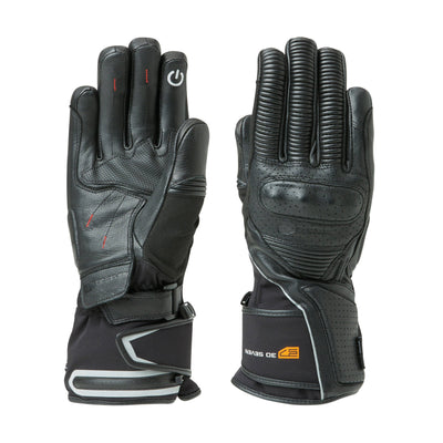 Heated Leather Motorcycle Gloves