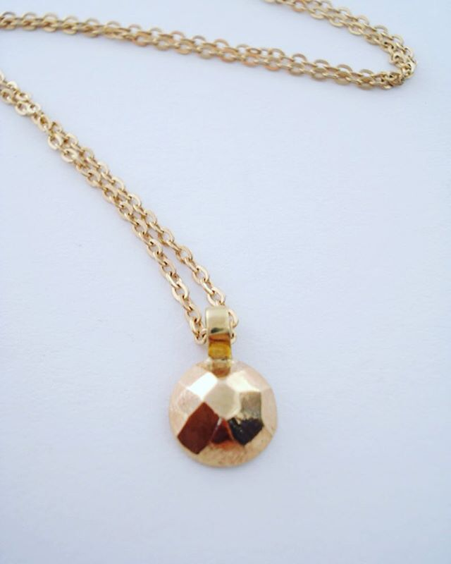 14kt Yellow Gold Faceted Necklace