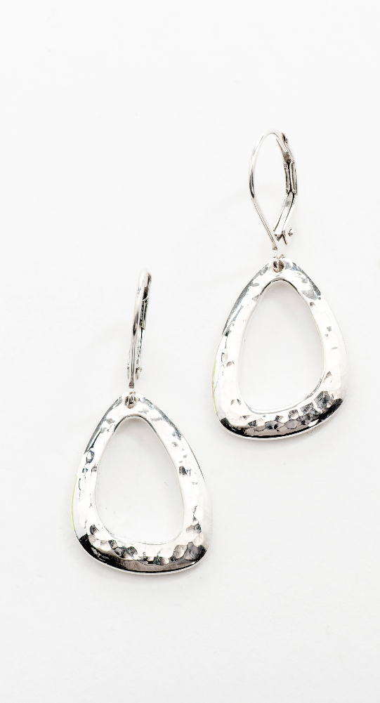 Taylor- Hammered Sterling Silver Drops