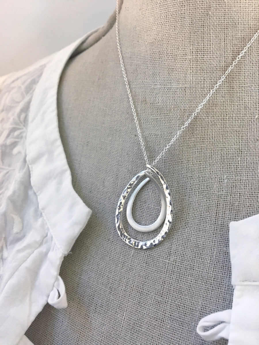 Large Tear Drop Necklace