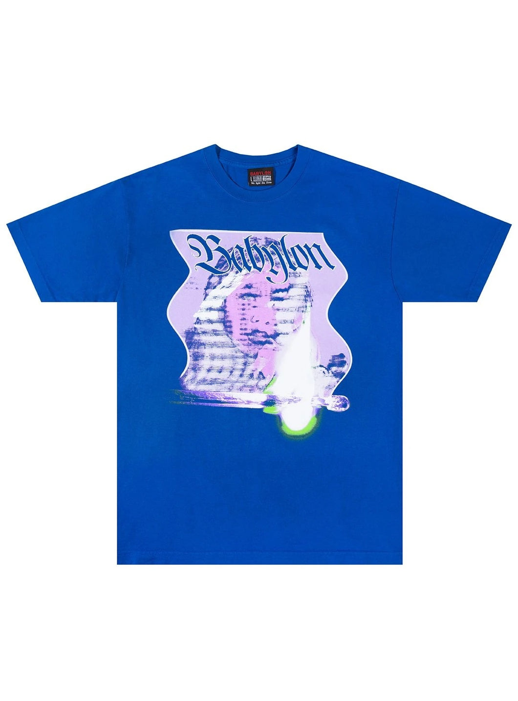 BABYLON BURN TEE - BLUE