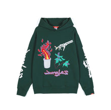 Load image into Gallery viewer, JUNGLES Bin Fire - chenille/chainstitch hoodie
