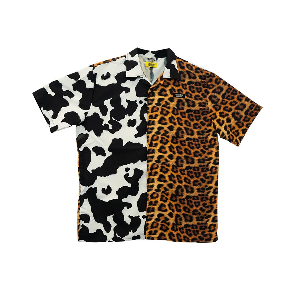 CHINATOWN MARKET ALL OVER ANIMAL PRINT SS BUTTON UP
