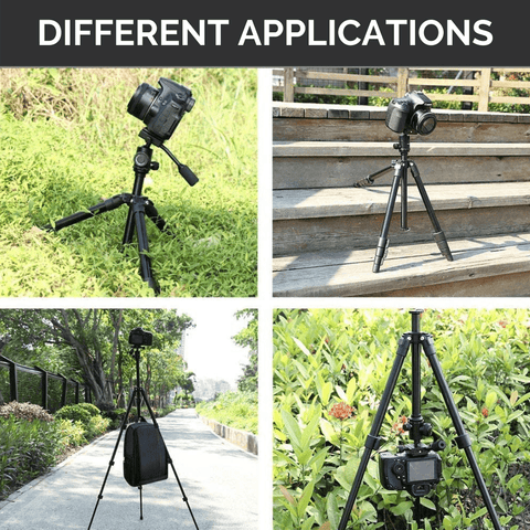 compact tripod for Smartphone in different locations and terrain with DLSR camera.