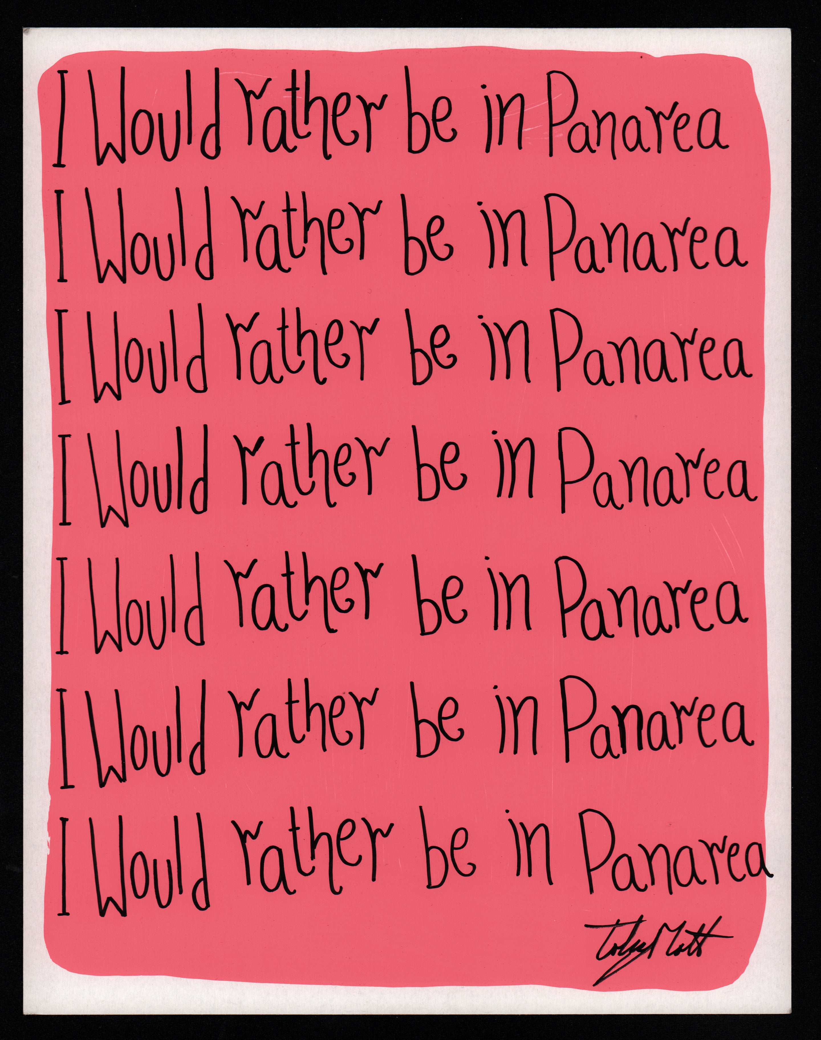 I would rather be in Panarea