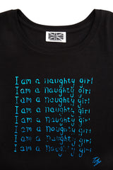 I am a Naughty Girl  Long Sleeved Fitted T Shirt