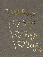 I Love Boys Cropped Top T