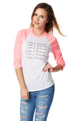 I am a Princess Baseball Shirt, Toby Mott Original Vintage Collection
