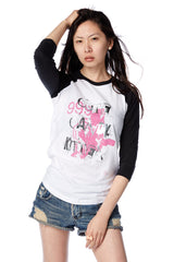 Cute Candy Kitten Baseball Shirt