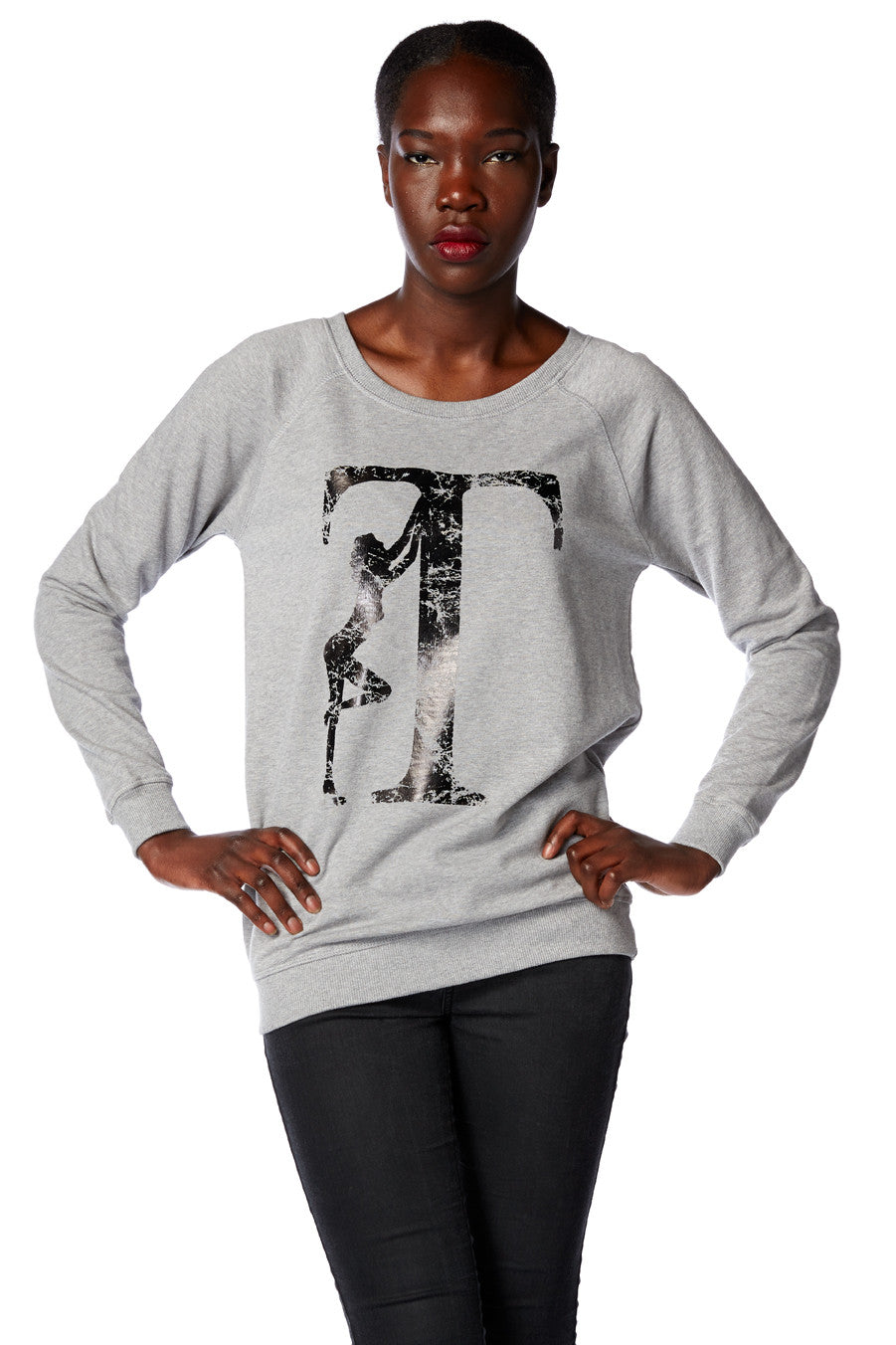 T Girl Scooped Neck Sweatshirt