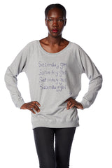 Saturday Girl Scooped Neck Sweatshirt