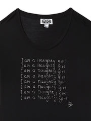I am a Naughty Girl Oversized T-shirt