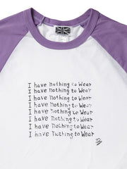 I Have Nothing To Wear Baseball Shirt, Toby Mott Original Vintage Collection