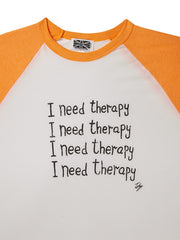 I Need Therapy Baseball Shirt, Toby Mott Original Vintage Collection