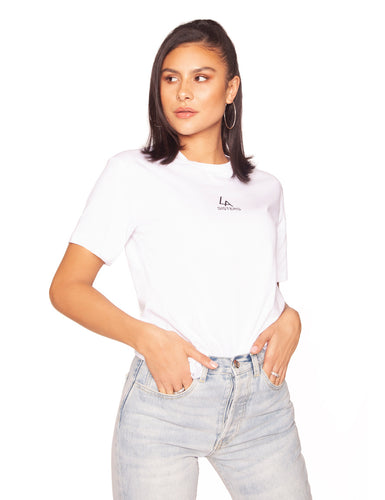 la sisters basic mini logo t-shirt wit