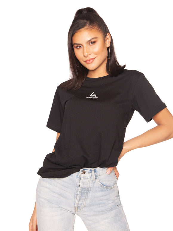 la sisters basic mini logo t-shirt zwart