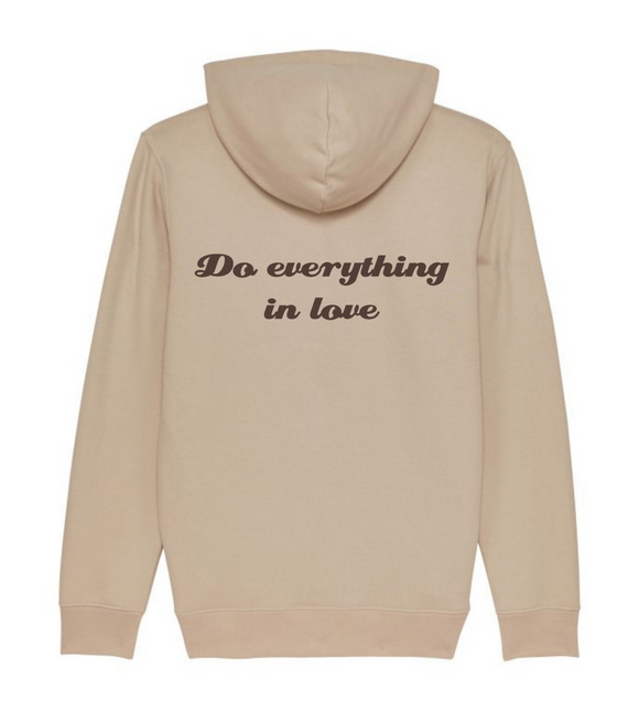 hoodie do everything in love beige