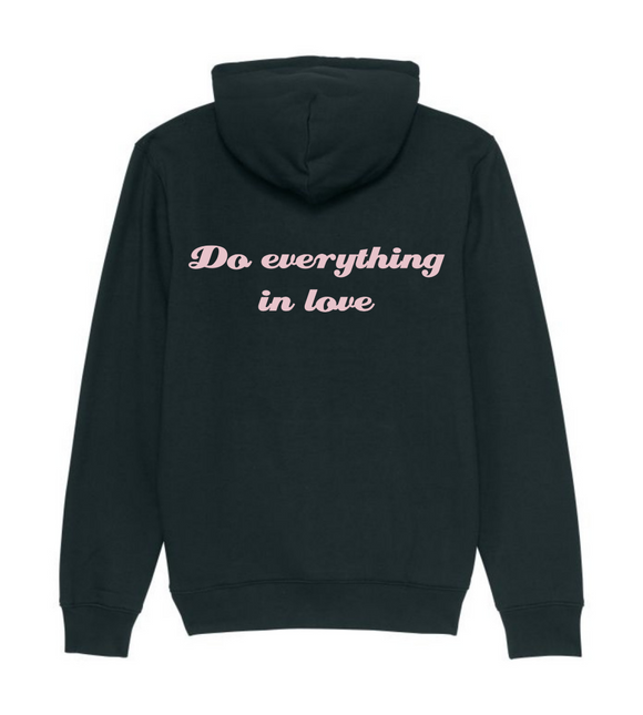 hoodie do everything in love zwart