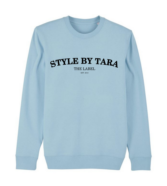 iconic sweater blauw sbt the label