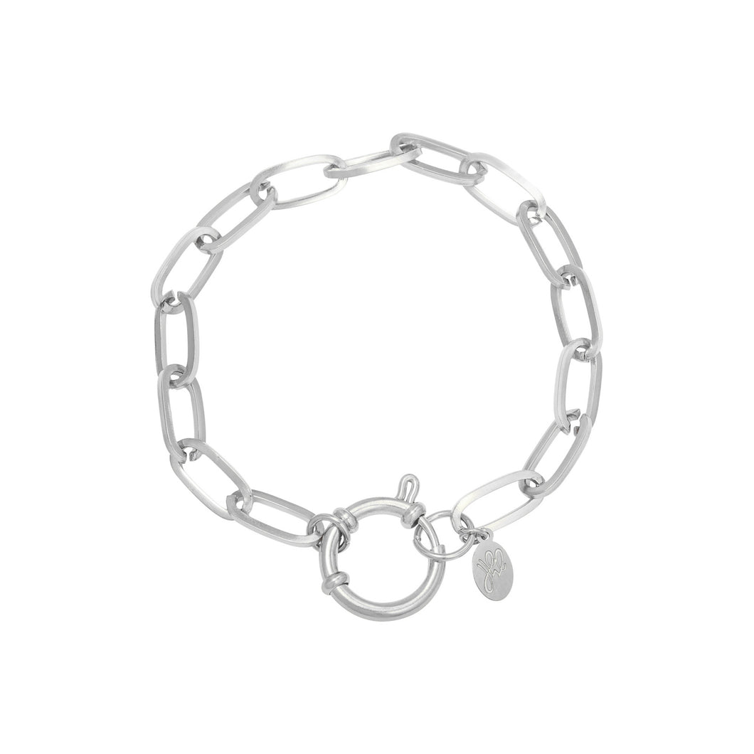 armband chain zilver stainless steel