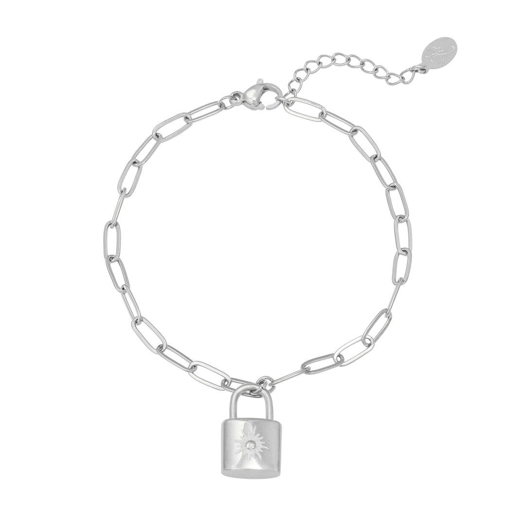 armband little lock zilver slotje