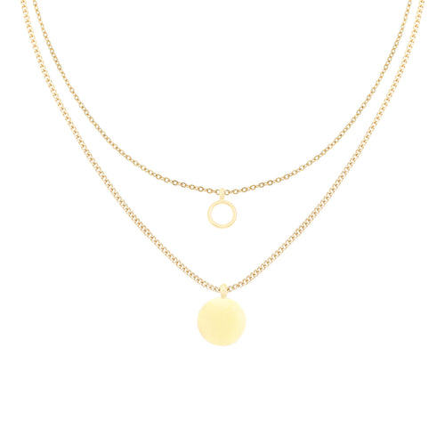 ketting layered complement goud
