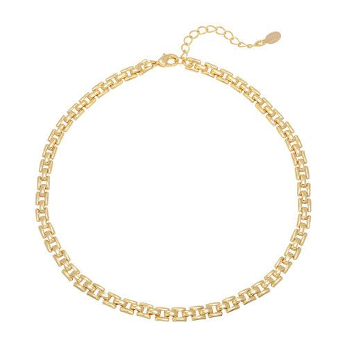 ketting goud vierkante schakels square chain