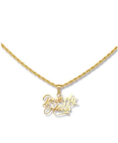 la sisters beverly hills necklace goud