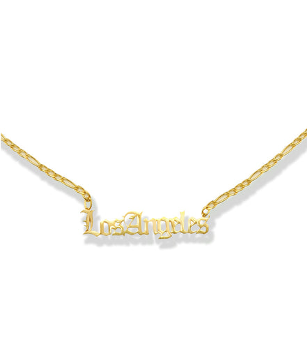 la sisters los angeles necklace goud